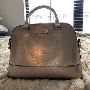 Kate Spade Metallic Large Shoulder Purse
